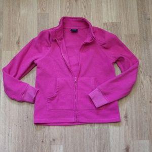 Fleece zip up jacket size M (7-8)